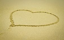 Free Heart Shape In The Sand Royalty Free Stock Images - 21249619
