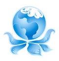 Free Blue Ecology Logo 3 Stock Photo - 21252340