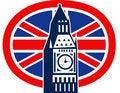 Free London Big Ben British Union Jack Flag Stock Images - 21256164