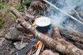 Free Cooking Over The Fire Royalty Free Stock Photos - 21256958
