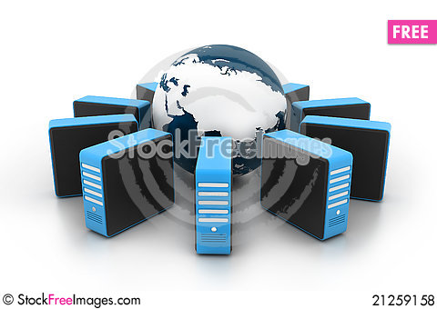 Free Presentation Of The Internet On Earth Royalty Free Stock Photos - 21259158