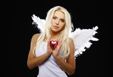 Free Portrait Of A Beautiful Angel Royalty Free Stock Images - 21250829