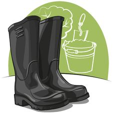 Free Rubber Boots Royalty Free Stock Image - 21252346