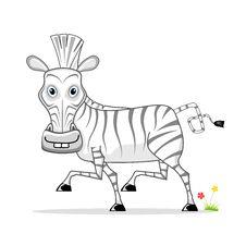 Free Cartoon Zebra Stock Photography - 21252562