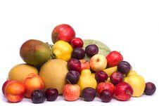 Free Pile Of Fresh Fruits Royalty Free Stock Photo - 21252665