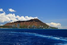 Free Diamond Head From The Ocean Royalty Free Stock Images - 21253209