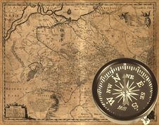 Free Ancient Compass Stock Photography - 21253472