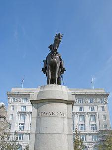Edward VII Statue2 Stock Image