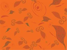 Abstract Background With Fish, Spiral And Sheet Stock Images
