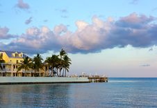 Free Hotel In Key West At Sunset Royalty Free Stock Photos - 21253788