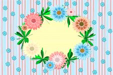 Free Retro Card With Wreath. Royalty Free Stock Images - 21254079
