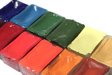 Free Set Of Paints Stock Photography - 21254282