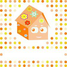 Free Cartoon Family Smile Cute House Stock Photos - 21254433