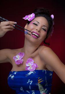 Free Happy Asian Woman Stock Photos - 21254503