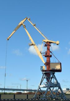 Free Port Crane Royalty Free Stock Photos - 21254818