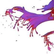 Free Red Splashes Isolated On White Stock Image - 21255701