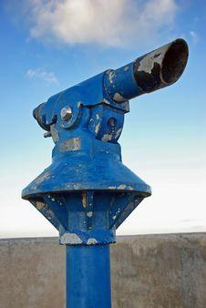 Free Blue Rusty Telescope Stock Photo - 21255760