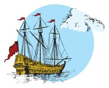 Free Sailing Ship Royalty Free Stock Photography - 21256367