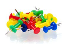 Free Push Pins Royalty Free Stock Photo - 21256585