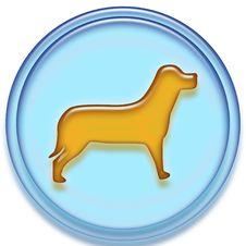Free Dog Button Stock Image - 21256621