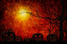 Free Grunge Textured Halloween Night Background Royalty Free Stock Photo - 21257005