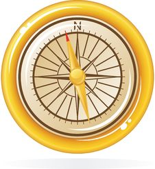 Free Compass In Vector Royalty Free Stock Image - 21257126