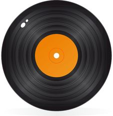 Free Gramophone Record In Vector Stock Image - 21257151