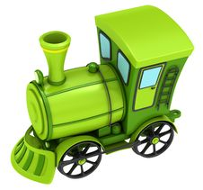 Free Green Toy Train Royalty Free Stock Photos - 21257258