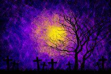 Free Grunge Textured Halloween Night Background Stock Photo - 21257330