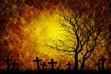 Free Grunge Textured Halloween Night Background Royalty Free Stock Images - 21257359