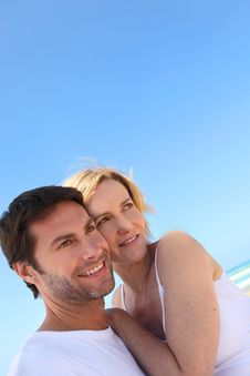 Free Couple On The Beach Stock Image - 21257731