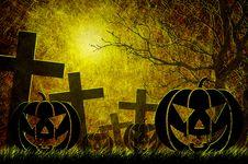 Free Grunge Textured Halloween Night Background Stock Photo - 21257920