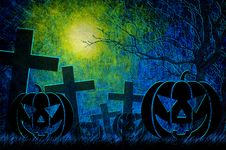 Free Grunge Textured Halloween Night Background Royalty Free Stock Photos - 21258038