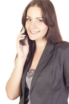 Free Young Woman Talking On The Phone Royalty Free Stock Photography - 21258897