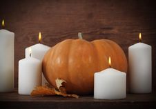 Free Pumpkin With Candels Royalty Free Stock Image - 21259416