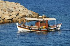 Fishing Boat On The Sea Stock Photos