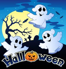 Free Halloween Scenery With Sign 2 Stock Images - 21259854