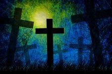 Free Grunge Textured Halloween Night Background Royalty Free Stock Photos - 21259898