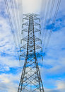 Free High Voltage Tower On Bright Sky Stock Images - 21261894