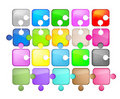 Free Icons Glass Shaped Puzzle Royalty Free Stock Images - 21263309