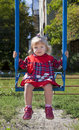Free Adorable Little Girl Having Fun On A Swing Stock Image - 21265651