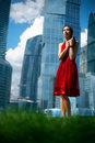 Free Girl In Red Dress Stock Photo - 21269620
