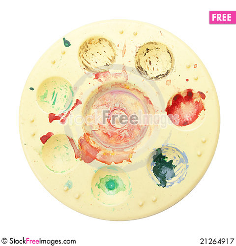 Free Color Plate Royalty Free Stock Photography - 21264917