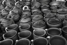 Ware From Clay: Pots, Teapots, Mugs Royalty Free Stock Images