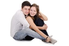 Free Beautiful Young Pair Royalty Free Stock Photography - 21260887