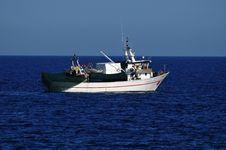 Free Fishing Boat At Sea Stock Photography - 21261082
