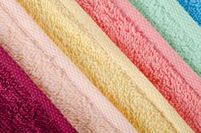 The Combined  Color Towels Stock Images