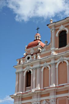 Free Fragment Of Catholic Church In Baroque Style. Stock Images - 21261384
