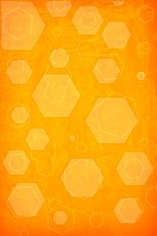 Free Orange Hexagon Background Stock Photo - 21261390