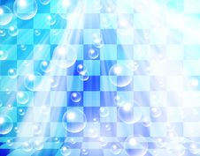Free Water Bubbles On Chessboard Royalty Free Stock Images - 21261419